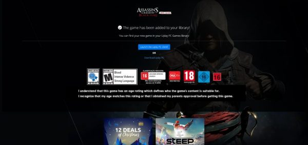 assassins creed iv black flag free uplay 2 600x284 - Đang miễn phí game thế giới mở Assassin's Creed IV: Black Flag