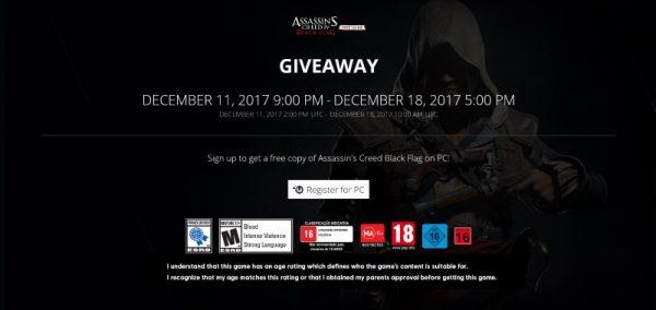 assassins creed iv black flag free uplay 600x284 - Đang miễn phí game thế giới mở Assassin's Creed IV: Black Flag