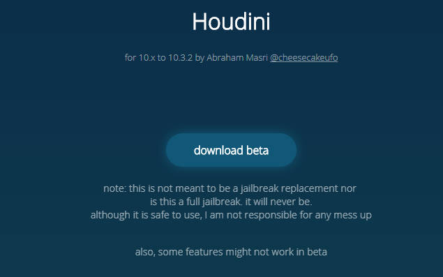 houdini - 'Jailbreak' iOS 10.3.2 với Houdini