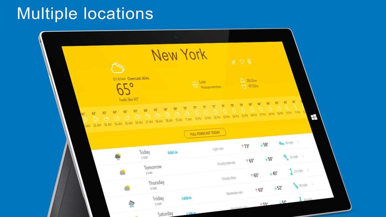 the weather 14 days - Ứng dụng UWP dự báo thời tiết hơn 450 ngàn địa điểm trên thế giới