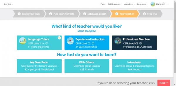 2018 01 15 13 34 53 600x294 - LearnTalk: Học tiếng Anh online với giáo viên, chủ đề mà bạn thích