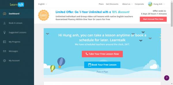 2018 01 16 17 28 15 600x294 - LearnTalk: Học tiếng Anh online với giáo viên, chủ đề mà bạn thích