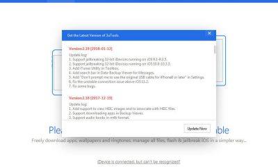 3utools 2.19 1 1 400x240 - 3uTools cập nhật bản 2.19, hỗ trợ jailbreak iOS 10.x trên thiết bị 32-bit