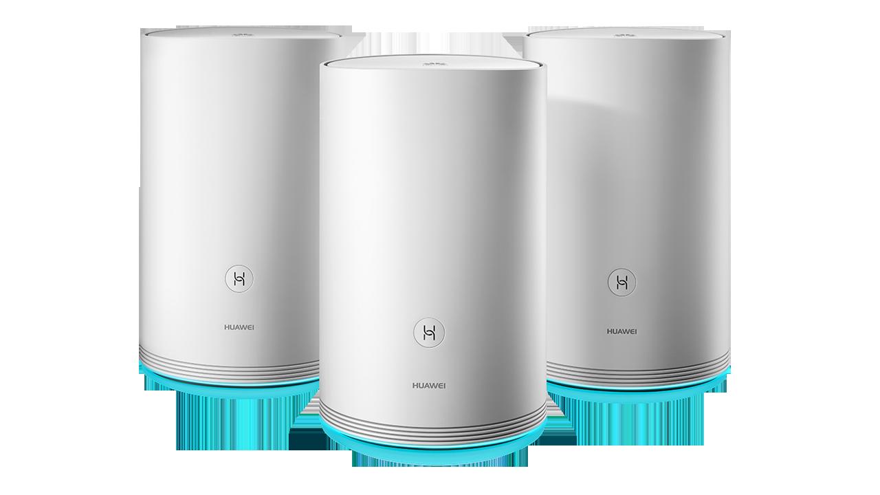 HUAWEI WiFi Q2 3 pack · Hybrid - Huawei công bố giải pháp mới WiFi Q2 cho mạng WiFi gia đình tại CES 2018