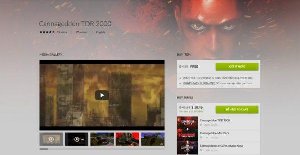 """carmageddon tdr 2000 free gog 600x310 - Đang miễn phí game """"đấu xe"""" kinh điển Carmageddon TDR 2000"""