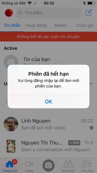 facebook logout 2 - Cách thoát Facebook Messenger trên iPhone hay thiết bị chạy iOS