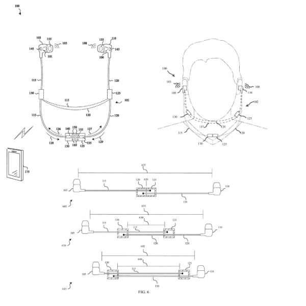 microsoft smart earphone patent 600x600 - Microsoft từng có ý định sản xuất tai nghe thông minh?