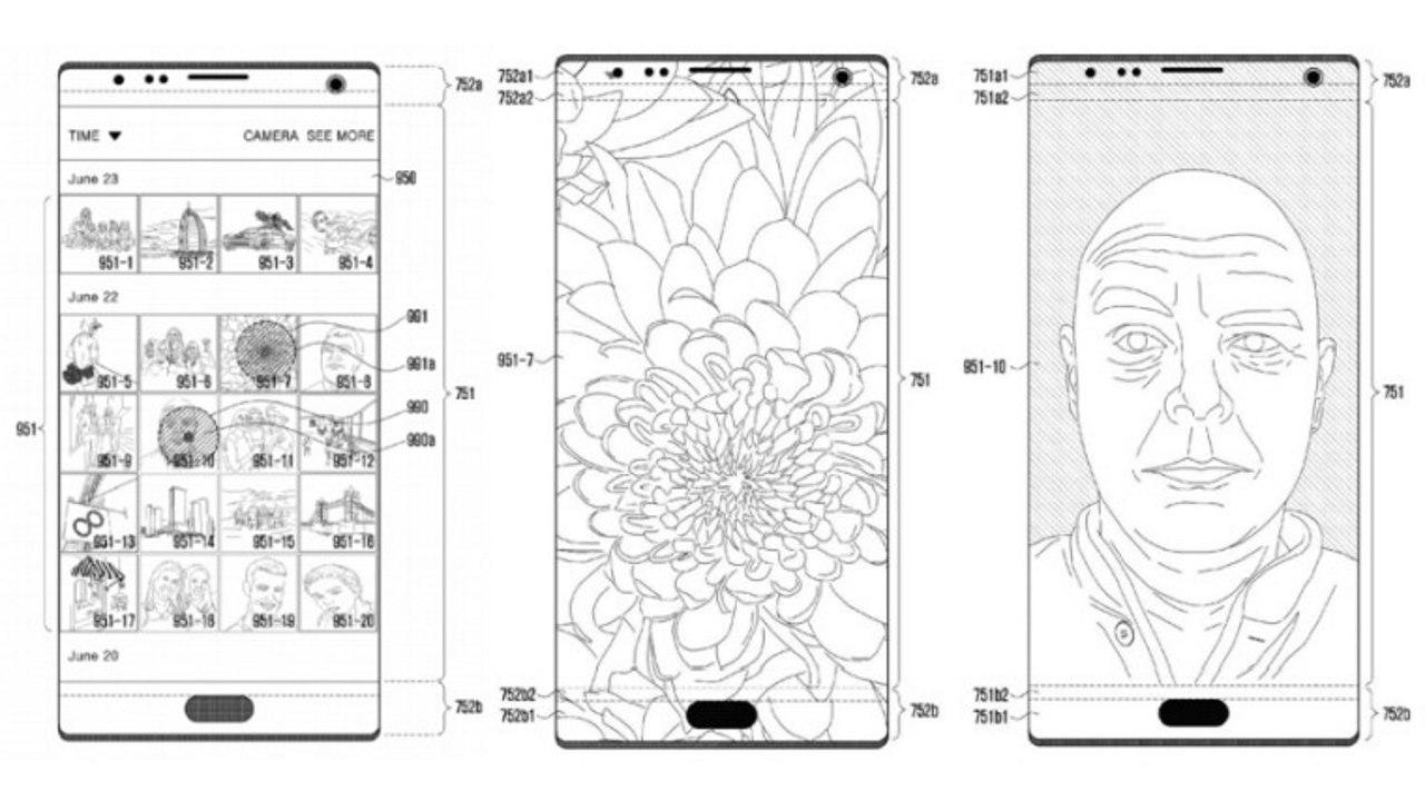 samsung patent camera sensors built into screen featured - Samsung có bằng sáng chế mới đưa camera và cảm biến vào dưới màn hình
