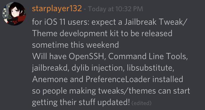 theme tweak development kit - Bạn sắp cài được tweak và theme cho iOS 11