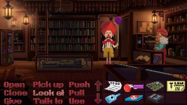 thimbleweed park screenshot 3 600x338 - Đánh giá Thimbleweed Park - bí ẩn một vụ mưu sát
