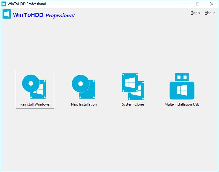 wintohdd 1 - Đang miễn phí ứng dụng cài Windows mà không cần sử dụng USB hay DVD