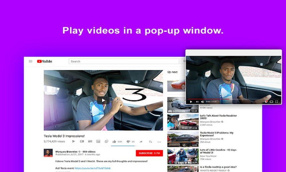 Iridium: Phát video YouTube từ cửa sổ nổi hay thumbnail trên Chrome