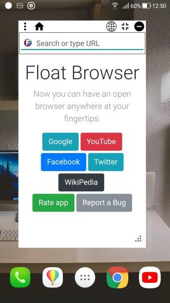 Screenshot 20180205 125004 338x600 - Float Browser: Trình duyệt nổi, chặn quảng cáo và hỗ trợ phát nền trên Android