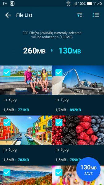 Screenshot 20180211 114050 338x600 - GOM Saver: Nén ảnh và video trên Android