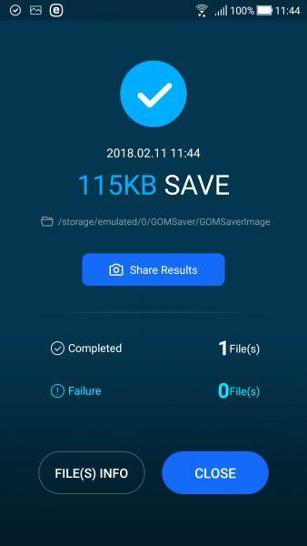 Screenshot 20180211 114409 338x600 - GOM Saver: Nén ảnh và video trên Android