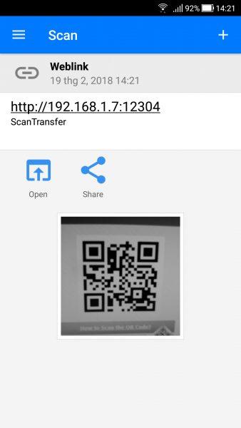 Screenshot 20180219 142122 338x600 - Cách chuyển ảnh, video trên Android và iOS vào máy tính Windows 10 bằng mã QR