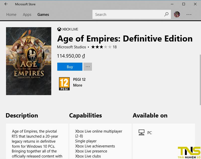 Age of Empires: Definitive Edition ra mắt, đổi store để có giá rẻ nhất 4