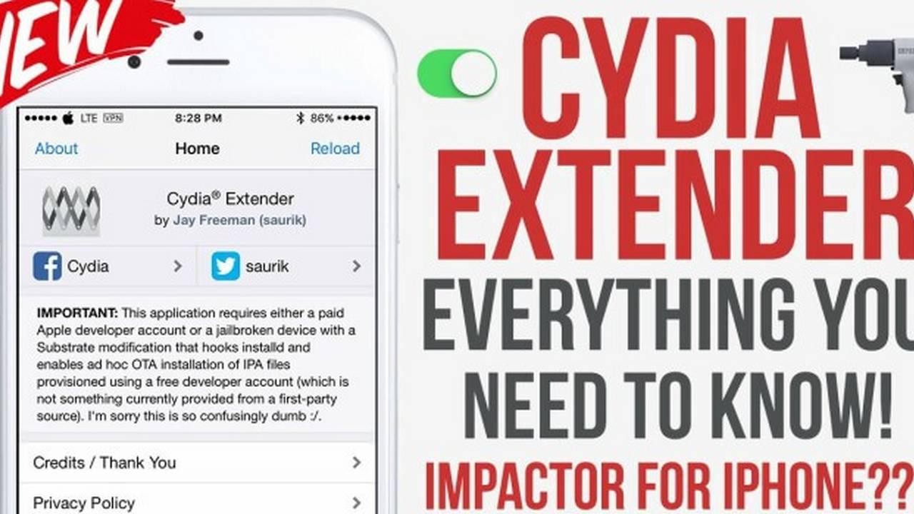 """cydia extender featured 1 - Cách tạo """"chữ ký số"""" mãi mãi cho ứng dụng iOS bằng JTool"""