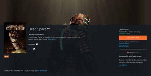 Dead Space free Origin