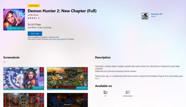 Demon Hunter 2: New Chapter free Microsoft Store