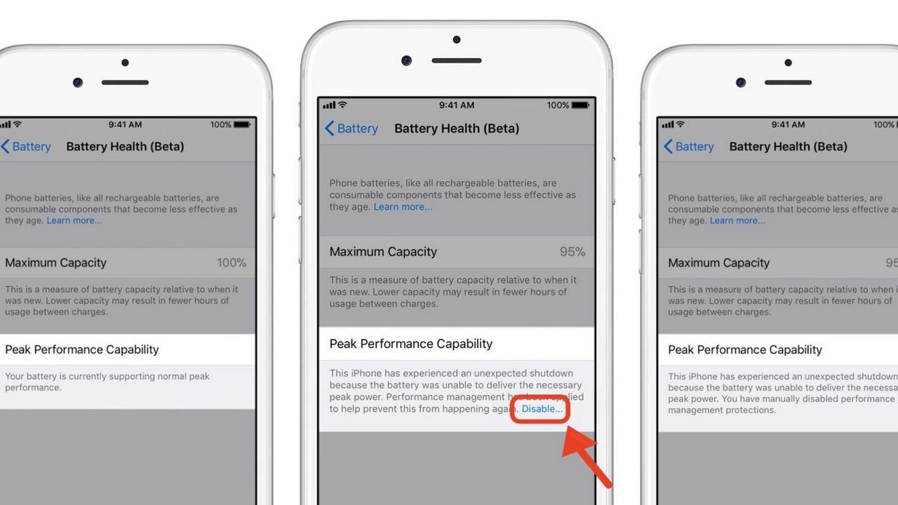 tat tinh nang giam hieu nang khi chai pin featured - Cách tắt tính năng giảm hiệu năng khi chai pin trên iOS 11.3