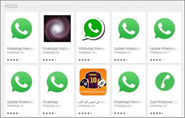 whatsapp giả 600x384 - Cách nhận biết ứng dụng giả mạo trên Play Store