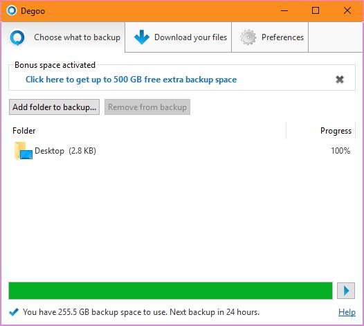Dùng thử Degoo với 500 GB dung lượng lưu trữ