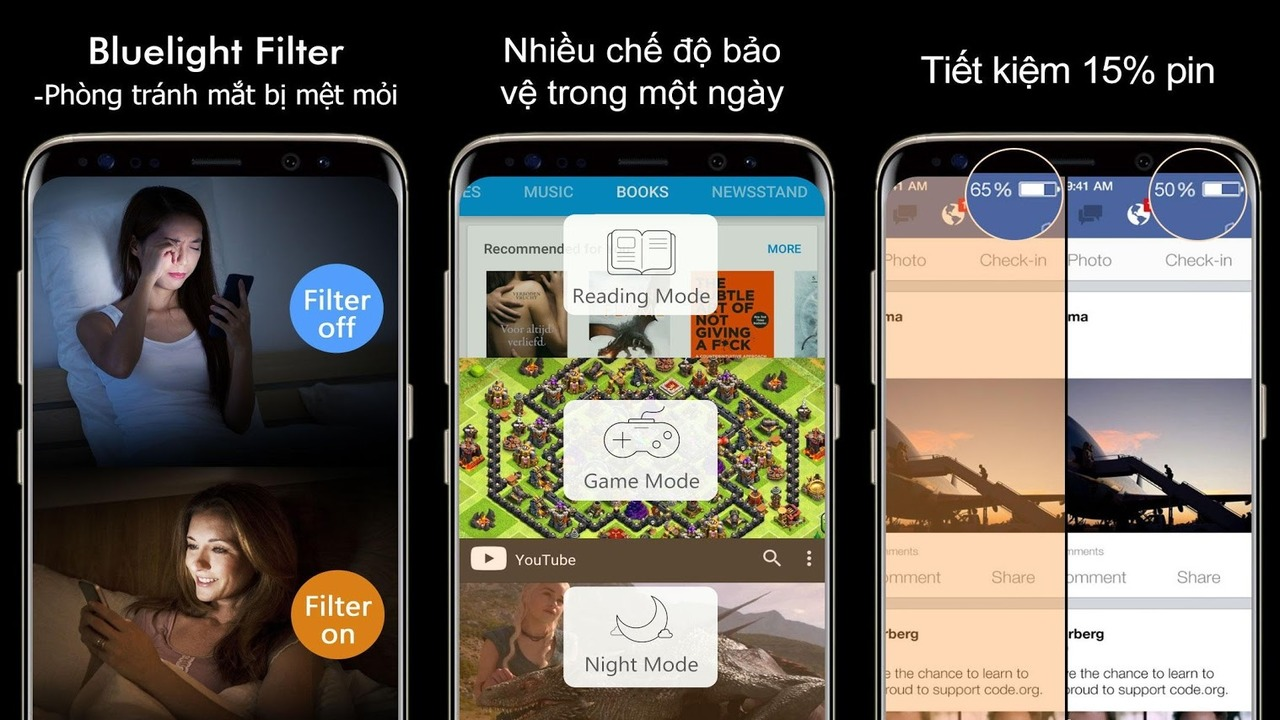 Blue Light Filter - Blue Light Filter: Chống mỏi mắt khi dùng thiết bị trên Android
