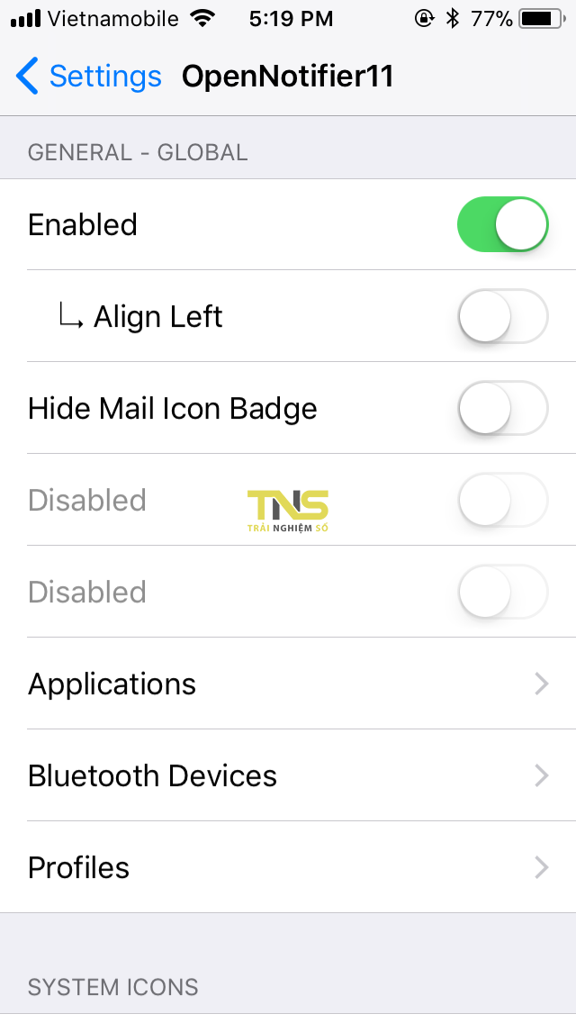 IMG 0320 - Cách hiển thị icon thông báo lên status bar độc lạ cho iOS 11