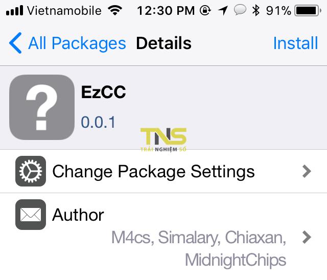 IMG 0365 - EzCC- thêm nút bật tắt GPS, Respring, SafeMode lên Control Center iOS 11