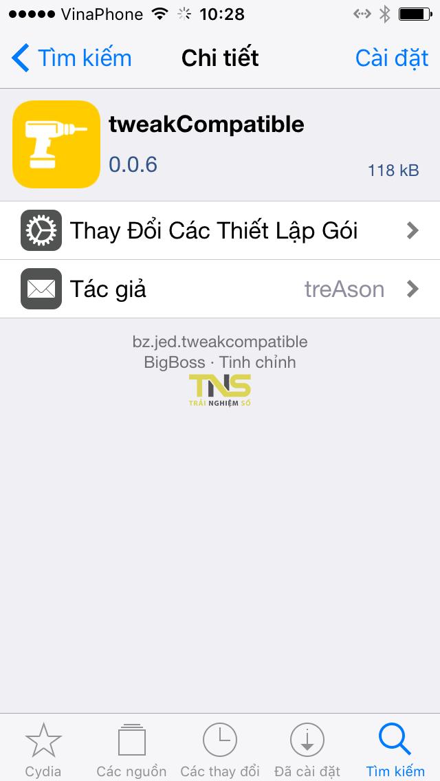 IMG 0499 - tweakCompatible: kiểm tra tweak tương thích iOS máy bạn, hỗ trợ 12.4