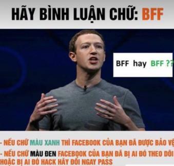 bff - Kiểm tra bảo mật Facebook bằng chữ BFF là không chính xác