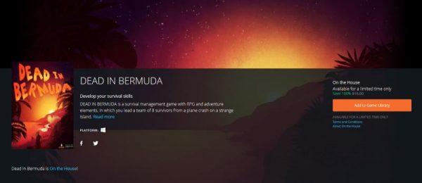 dead in bermuda free origin 600x260 - Đang miễn phí game sinh tồn và quản lý tài nguyên Dead in Bermuda, giá gốc 15USD