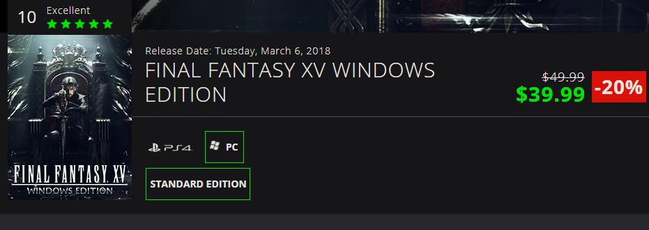 Final Fantasy XV ra mắt cho PC: mua rẻ nhất ở đâu?