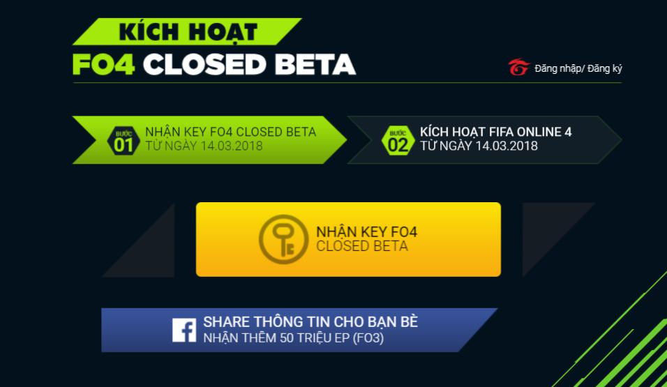 key fifa online 4 closed beta 2 - Cách nhận key FIFA Online 4 Closed Beta để trải nghiệm