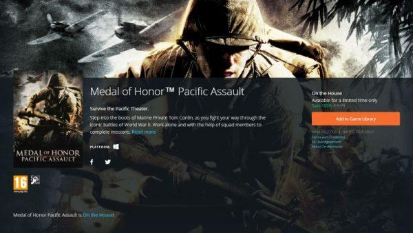 medal of honor pacific assault free origin 600x338 - Đang miễn phí game FPS kinh điển Medal of Honor: Pacific Assault