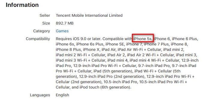 PUBG Mobile có chơi được trên iPhone 5s? 1