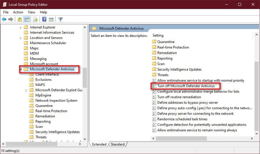 7 cách tắt Windows Defender trong Win 10 cực dễ 11