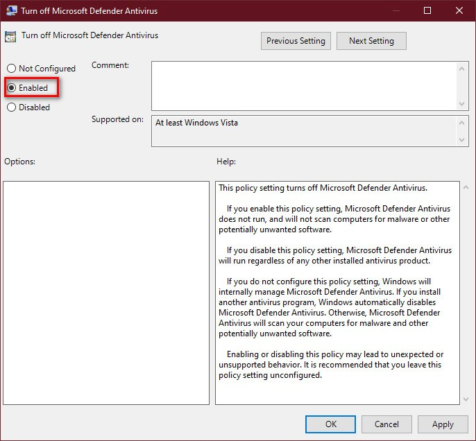 7 cách tắt Windows Defender trong Win 10 cực dễ 12