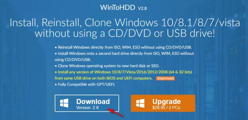wintohdd 1 800x387 - Nhanh tay tải miễn phí ứng dụng cài Windows mà không cần sử dụng USB