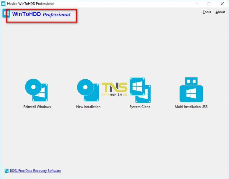wintohdd 5 800x625 - Nhanh tay tải miễn phí ứng dụng cài Windows mà không cần sử dụng USB