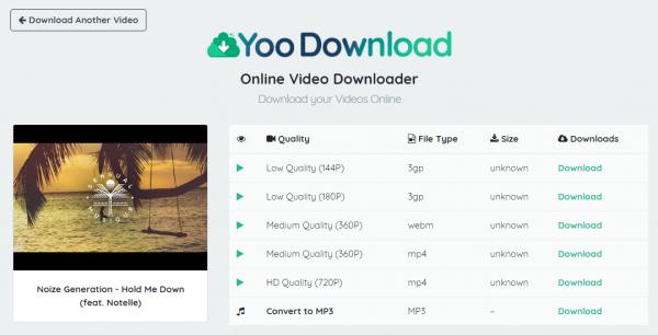 Tổng hợp 17 trang web thay thế KeepVid để tải nhạc, video YouTube 19