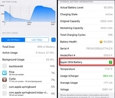 DetailedPowerUsage - DetailedPowerUsage bổ sung tính năng xem pin iPhone xịn hay giả
