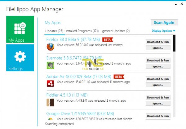 FileHippo App Manager 600x415 - Top 15 trang tải miễn phí phần mềm máy tính an toàn
