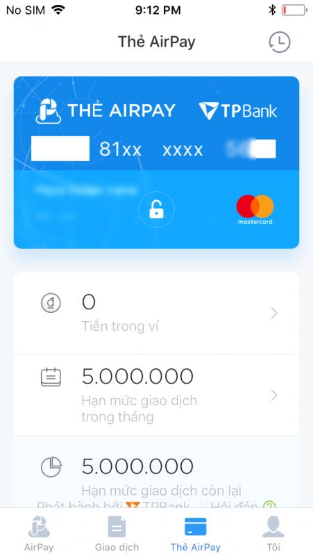 IMG 0011 451x800 - Hướng dẫn tạo thẻ Mastercard miễn phí với Virtual Airpay Mastercard