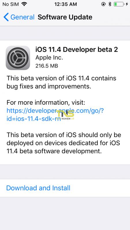 IMG 0012 451x800 - iOS 11.4 beta 2 đã có thể tải về