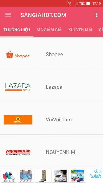 Săn voucher, mã giảm giá các trang thương mại điện tử trên Android 1