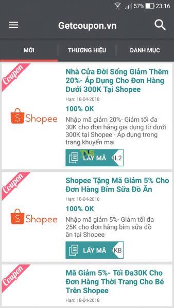 Săn voucher, mã giảm giá các trang thương mại điện tử trên Android 4
