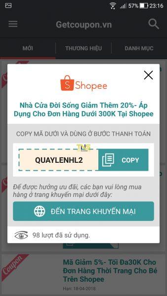 Săn voucher, mã giảm giá các trang thương mại điện tử trên Android 5
