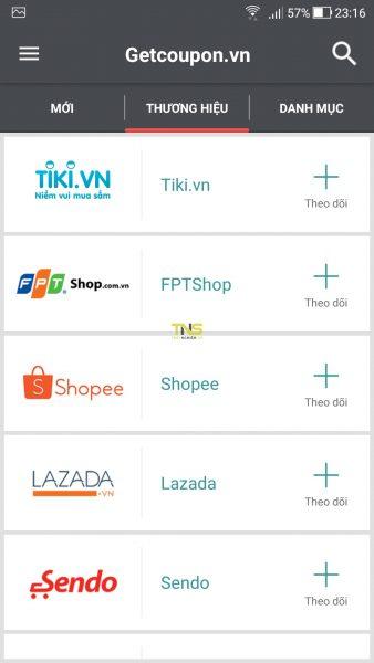 Săn voucher, mã giảm giá các trang thương mại điện tử trên Android 6